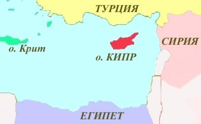 Где находится на карте кипр